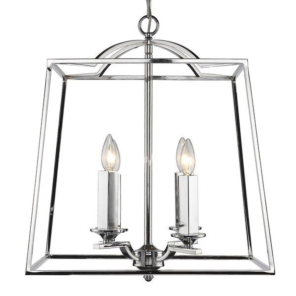 Senter 4 - Light Lantern Geometric Chandelier By Willa Arlo Interiors