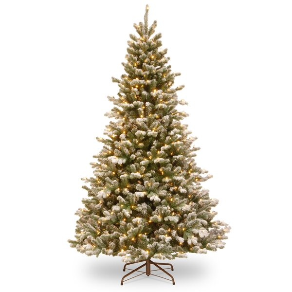 PowerConnect 90 Green Spruce Artificial Christmas Tree with 700 White LED Lights and Stand by Ophelia & Co.