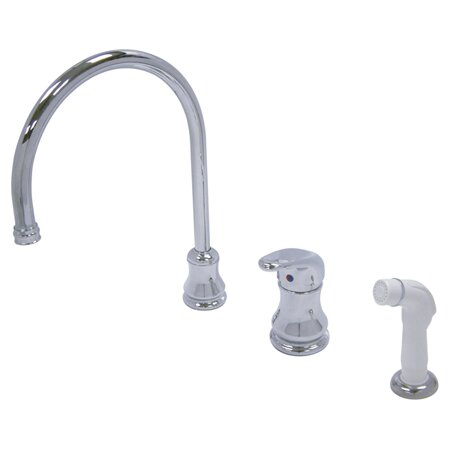 Wyndham Single Handle Kitchen Faucet with Side Spray by Kingston Brass