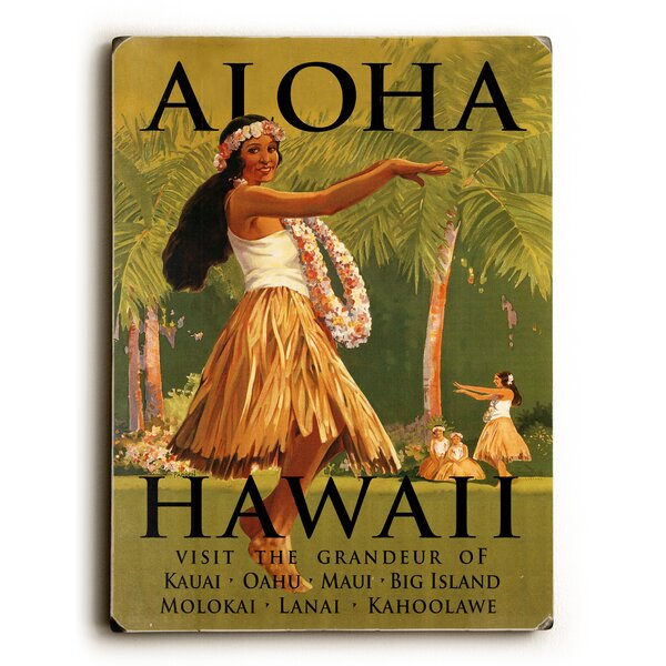 Aloha Hawaii Vintage Advertisement by Artehouse LLC