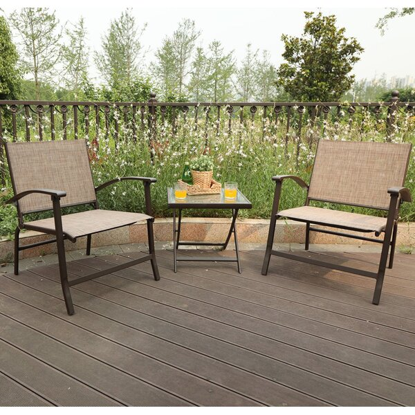 Magness Patio Folding Sling 3 Piece Dining Set by Winston Porter