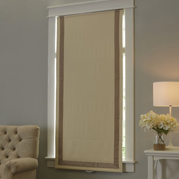 Indoor Cordless Roman Shade by Beachcrest Home