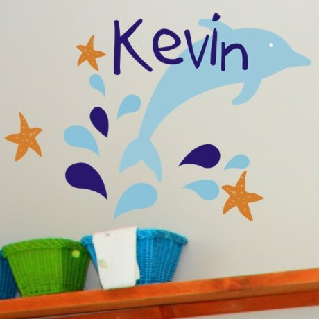 Personalized Dolphin Delight Wall Decal by Alphabet Garden Designs