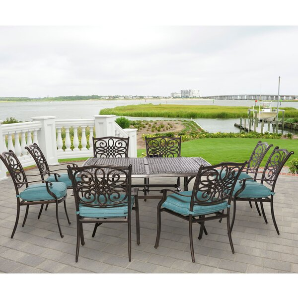Pleasanton 9 Piece Dining Set by Fleur De Lis Living