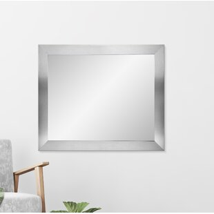 Best Reviews 32 Square Silver Wall Mirror ByBrandt Works LLC