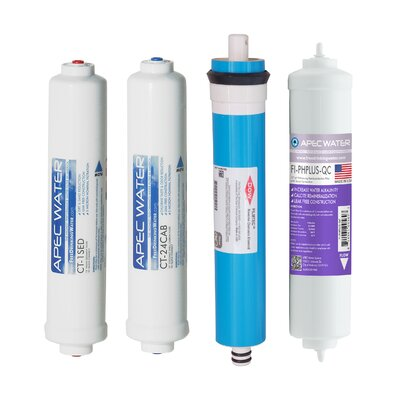 Apec Water Us Made Ultimate Countertop Alkaline 90 Gpd Complete Filter Set Stage 1-4 (Filter-Maxctop-Ph) APEC WATER