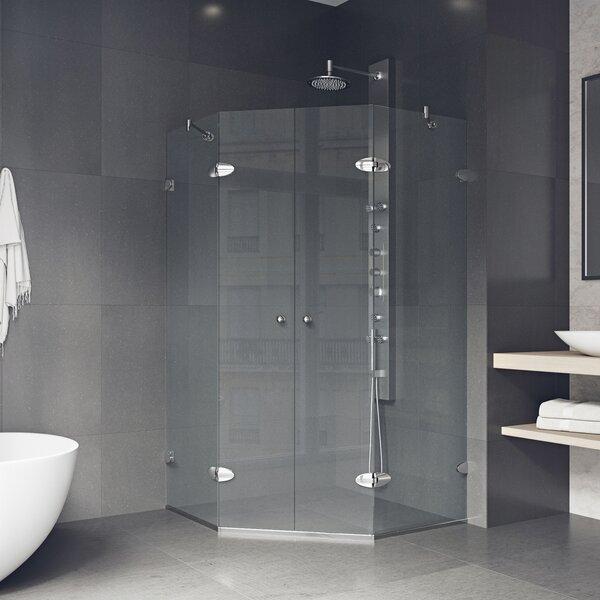Shower 46.63 x 73.375 Neo-Angle Pivot Shower enclosure by VIGO