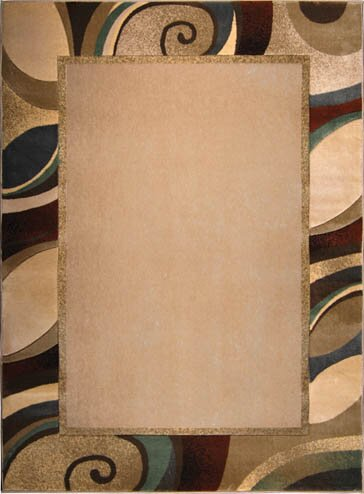Dufresne Cream/Gray Area Rug by Ebern Designs