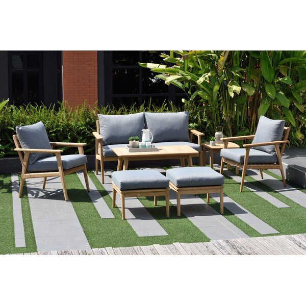 Darrah 7 Piece Teak Sofa Seating Group with Cushions by Brayden Studio