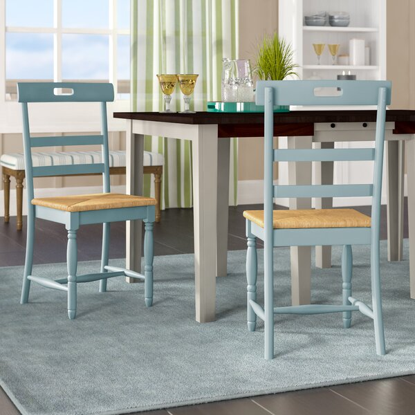 Alburg Solid Wood Dining Chair (Set of 2) by Beachcrest Home