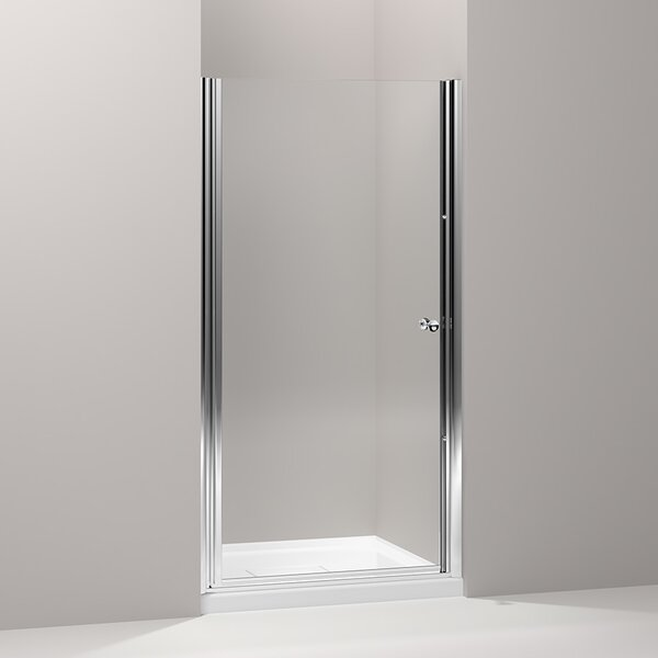 Fluence 34 x 65.5 Pivot Shower Door with CleanCoat® Technology by Kohler