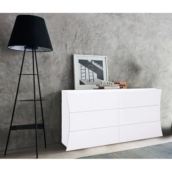 Luevano 6  Drawers Double Dresser by Orren Ellis