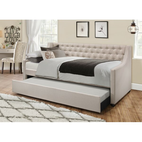 Jabari Upholstered Twin Daybed With Trundle