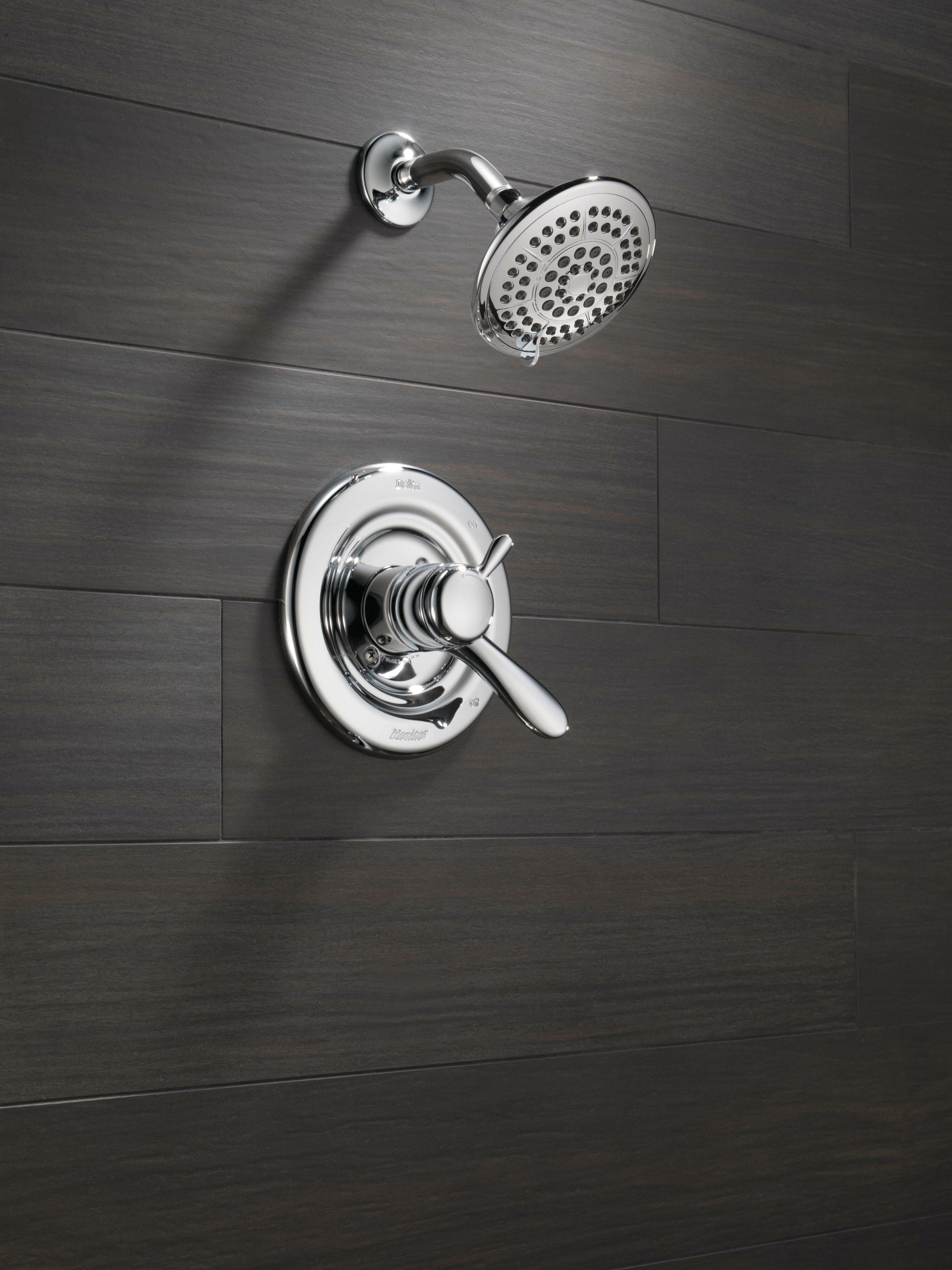 Delta Lahara Shower Faucet Trim with Lever Handles and Monitor ...