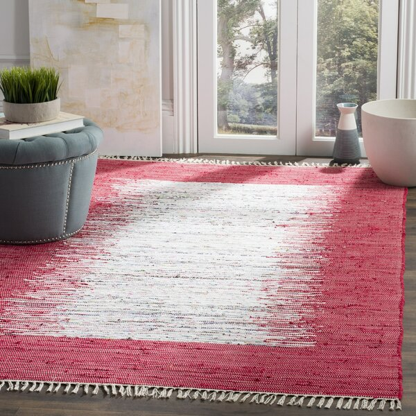 Static Hand-Woven Cotton Red Area Rug by Birch Lane Kids™