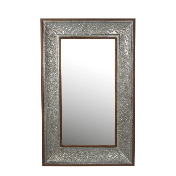 Tori Wood and Metal Leaner Accent Mirror by Bloomsbury Market