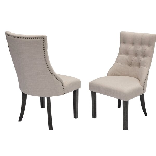 Royal Upholstered Dining Chair (Set of 2) by Canora Grey