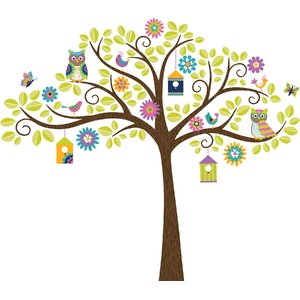 Hoot and Hang Out Tree Baby Wall Stickers