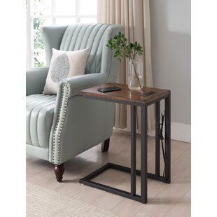 Blankenship C-table with Charging Station Ebern Designs