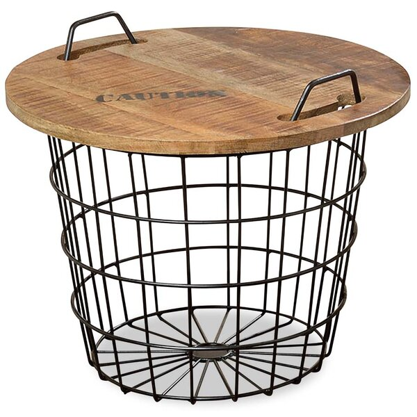 Monsen Convertible Basket End Table by Williston Forge