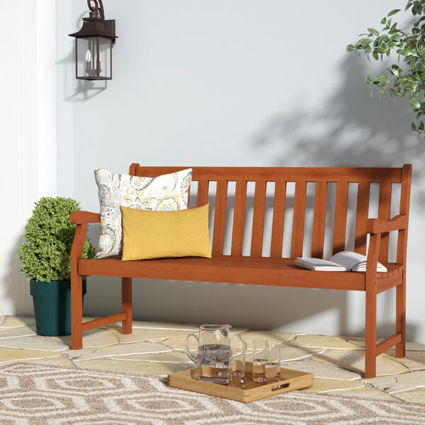 Nissen Wooden Garden Bench by Alcott Hill