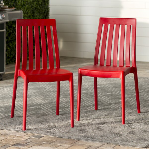 Dionysus Stacking Patio Dining Chair (Set of 2) by Mercury Row