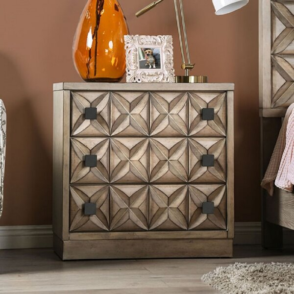 Brinley 3 Drawer Nightstand by Foundry Select