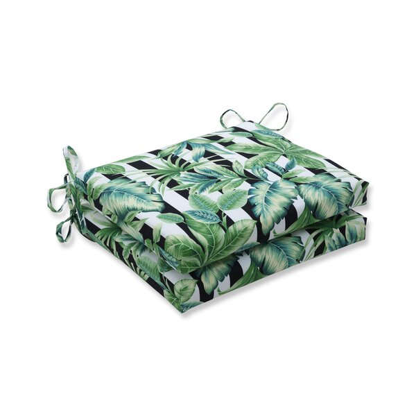 Eilish Palmetto Indoor/Outdoor Dining Chair Cushion (Set Of 2) By Bay Isle Home