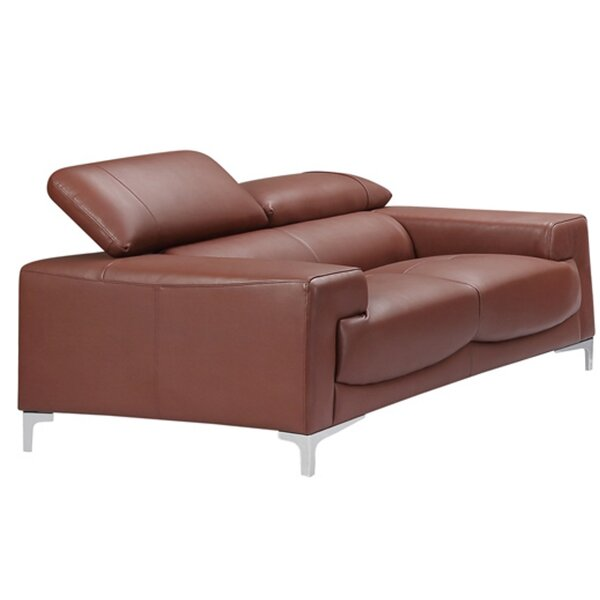 Carlstrom Saddle Genuine Leather Loveseat By Orren Ellis