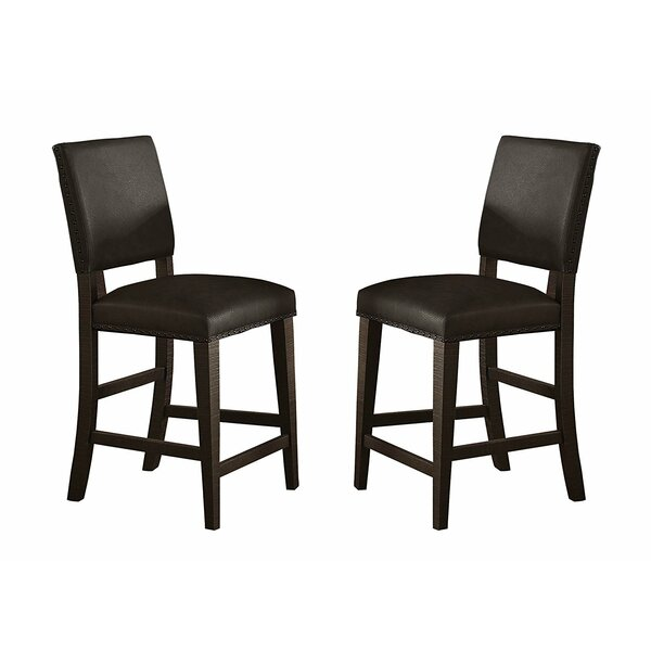 Ace Wood/leather Bar Stool (Set of 2) by Red Barrel Studio