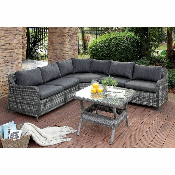 Alexandro Patio Sectional with Cushions by Red Barrel Studio