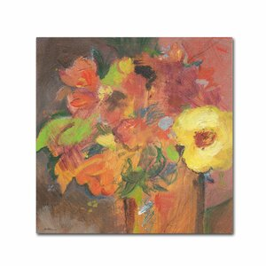 'Floral Expressions' by Sheila Golden Painting Print on Wrapped Canvas by Trademark Fine Art