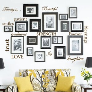 12 Family Quote Words Vinyl Wall Decal