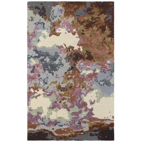 Wora Hand-Crafted Blue/Brown Area Rug by Latitude Run