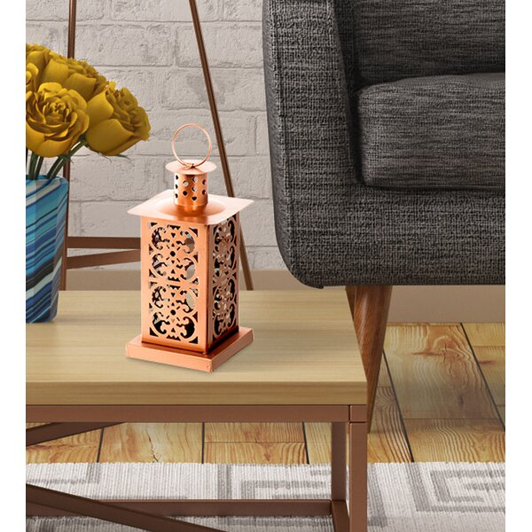 Metal Lantern by Bungalow Rose