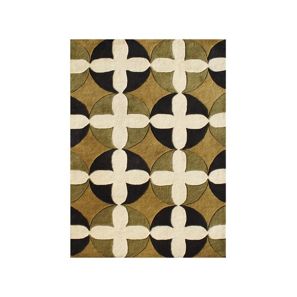 Salmon Hand-Tufted Honey Gold/Cream Area Rug by The Conestoga Trading Co.