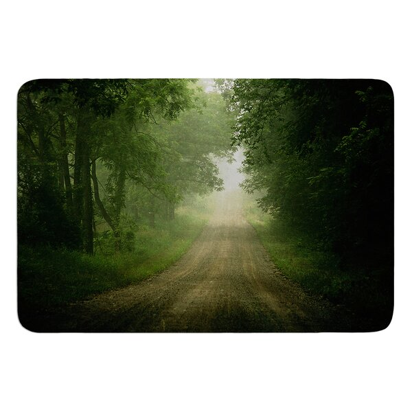 Foggy Road by Angie Turner Bath Mat by East Urban Home