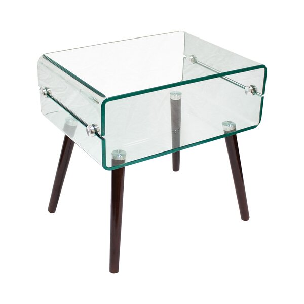 Sylvia Glass End Table by Corrigan Studio