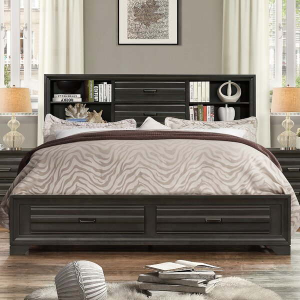 Blasco Wood Storage Platform Bed by World Menagerie