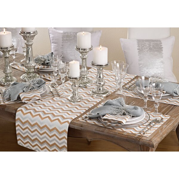 Blough Chevron Design Placemat (Set of 4) by Wroug