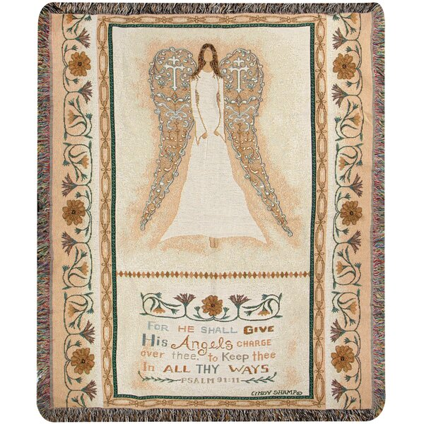 In All Thy Ways Tapestry Cotton Throw by Manual Woodworkers & Weavers