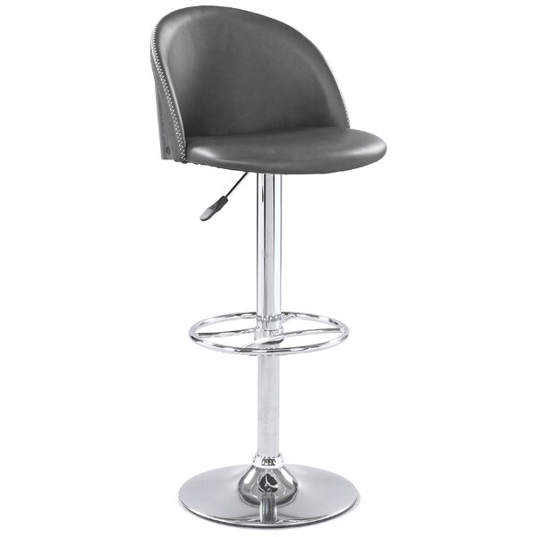 Cayman Swivel Adjustable Height Bar Stool by Latitude Run Latitude Run