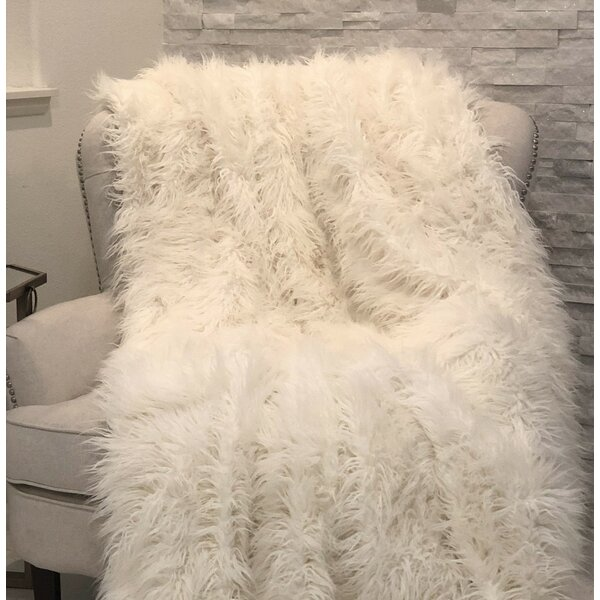 Ragsdale Mongolian Luxury Faux Fur Throw by Everly Quinn