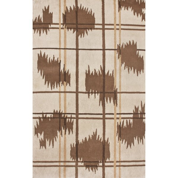 Indo-Nepal Hand-Knotted Wool Ivory Area Rug by nuLOOM
