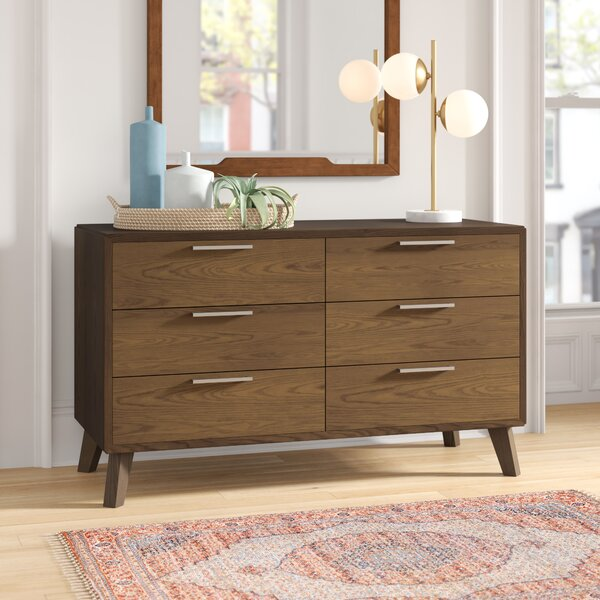 Ronan 6 Drawer Double Dresser by Foundstone