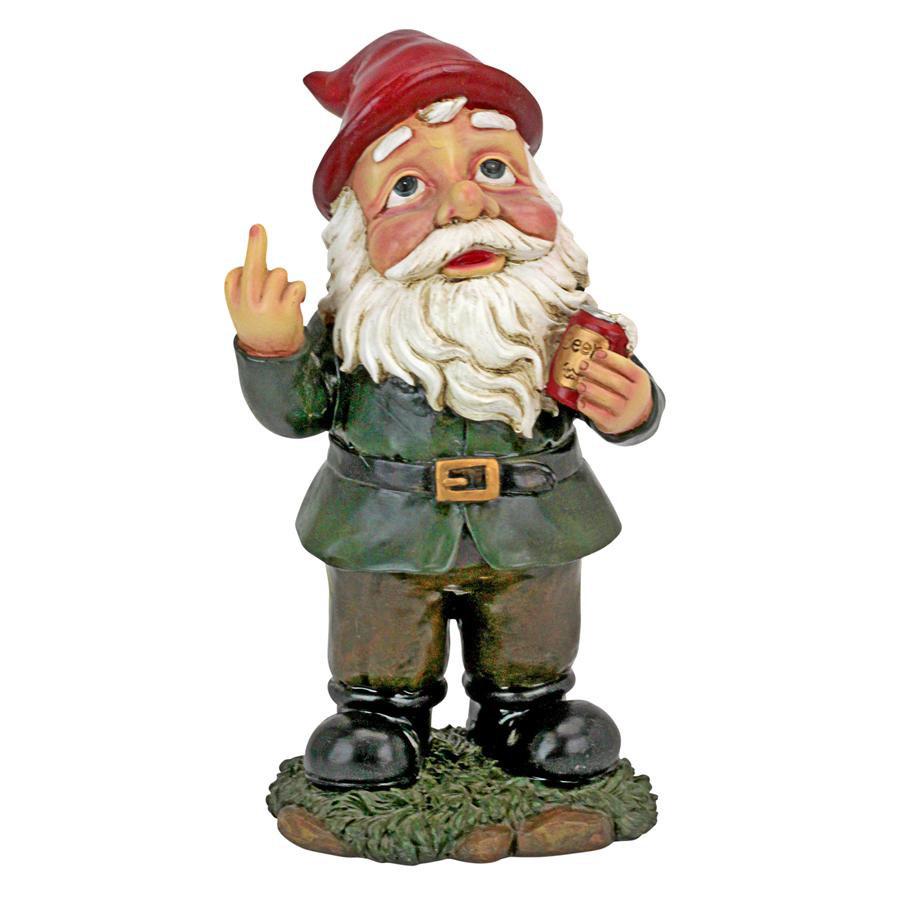 Ordinaire Design Toscano Foul Finger Tipsy Tim Beer Garden Gnome Statue U0026 Reviews |  Wayfair