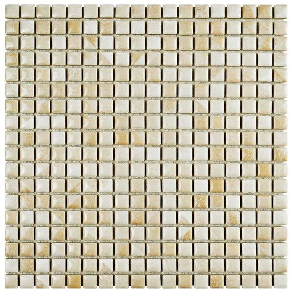Arcadia 0.56 x 0.56 Porcelain Mosaic Tile in Perla Bone by EliteTile