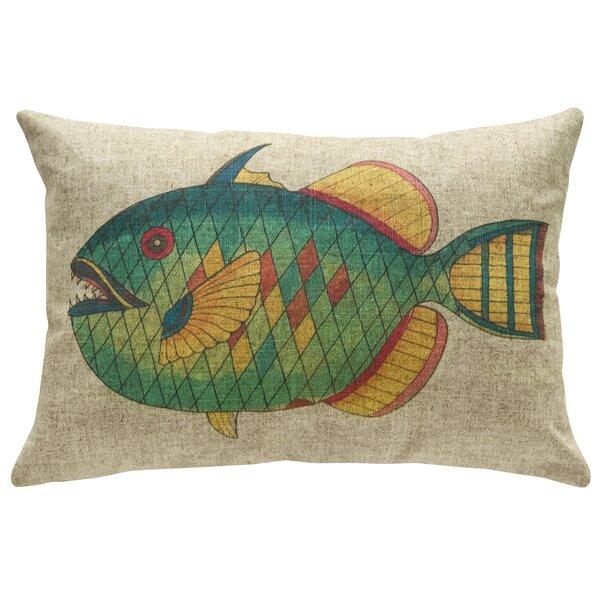 Pennebaker Fish Linen Throw Pillow by Loon Peak