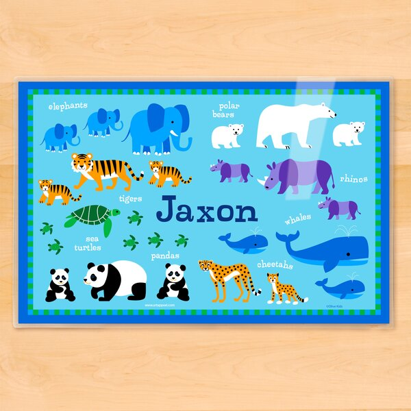 Endangered Animals Personalized Placemat by Olive Kids