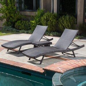 Alejandre 3 Piece Chaise Lounge Set